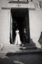 Alexander e Francesca sul sagrato