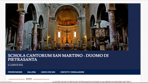 Screenshot Coro Duomo Pietrasanta