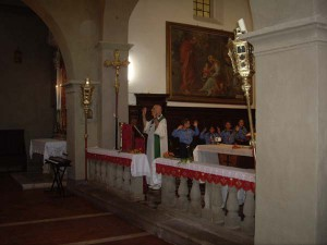 In chiesa Santa Maria Assunta